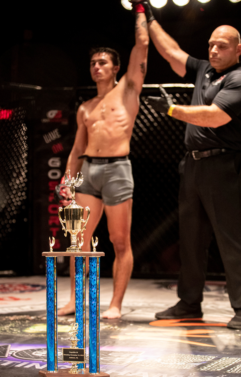 Christian brings home the trophy at Cagezilla 59